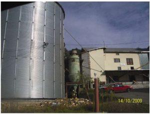 Njëri prej silosëve për ruajtjen e grurit